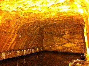 Himalayan salt lamp, salt mining cave