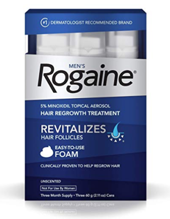 Rogaine foam,hair treatment,how to prevent hair loss in men